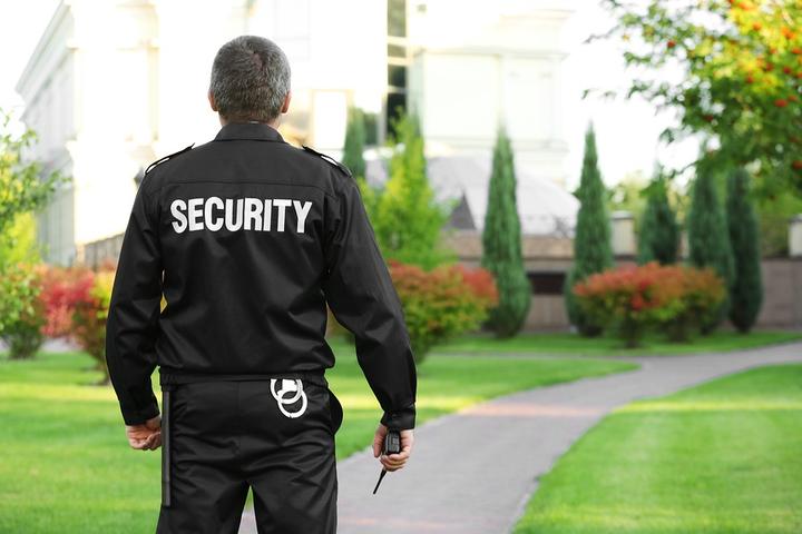 Охранник возле частной школы, ГК БРИГ