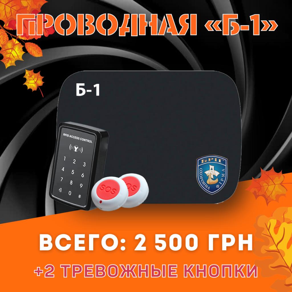 Проводная Б-1 + 2 тревожные кнопки | Акции ГК Бриг